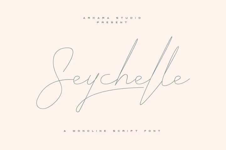 ARK Seychelle - Exotic Monoline Font