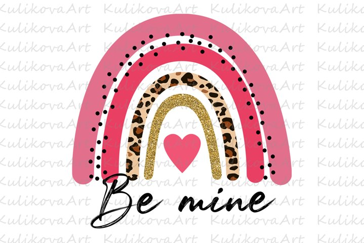 Valentines rainbow PNG, sublimation, valentines day png