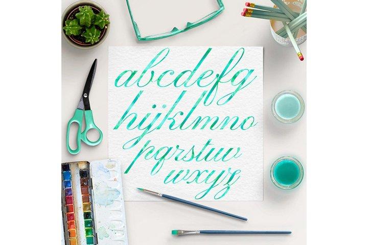 Mint Alphabet, Brush Lettering Fonts