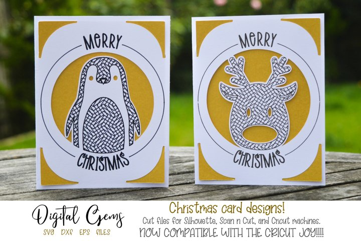 Christmas card designs! Now compatible with the Cricut Joy!!