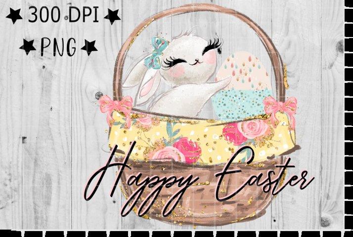 Happy Easter , PNG , Digital, Rabbit