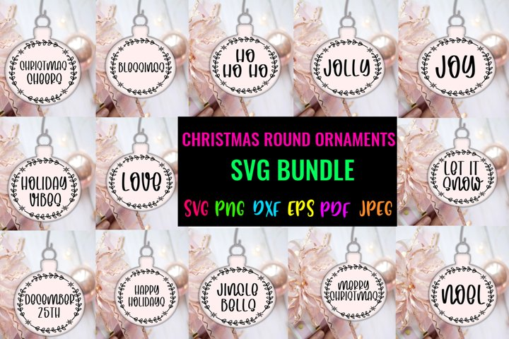 Christmas Round Ornaments SVG Bundle- Christmas Ornaments