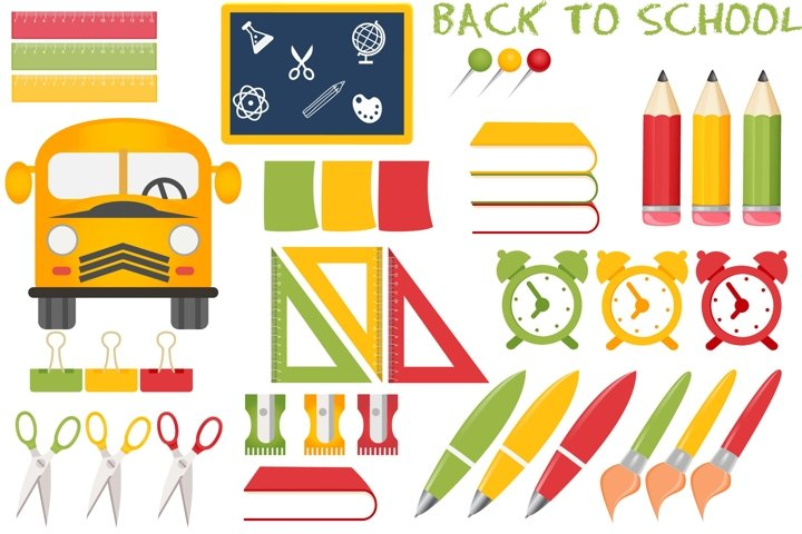 Back to school illustrations, Back to school graphics