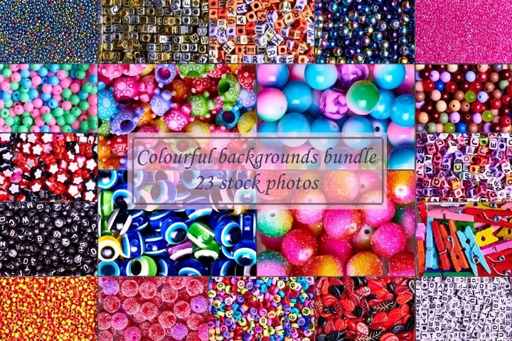 Colourful backgrounds bundle 23 stock photos.