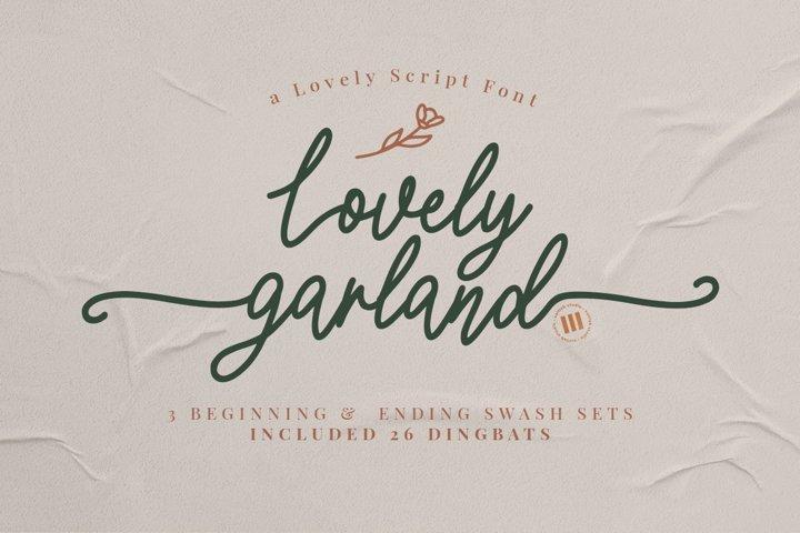 Lovely Garland - A Lovely Script Font