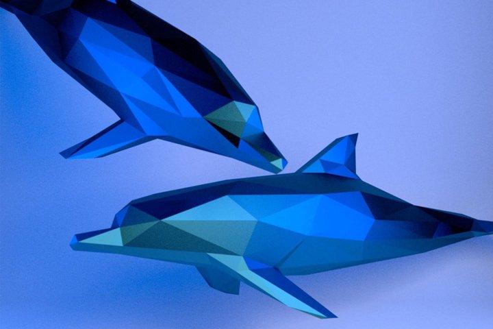 Dolphin Papercraft, Paper Dolphin, 3d Papercraft