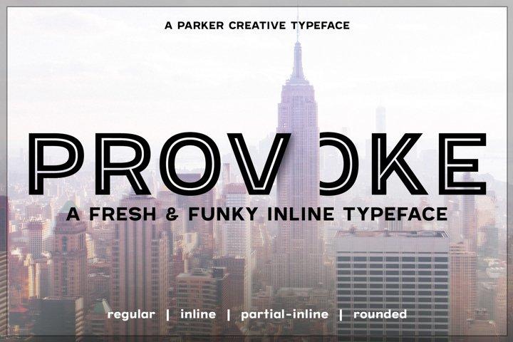 Provoke Trendy Inline Webfont