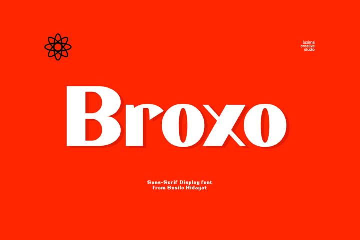 Broxo - Stylish Sans Serif Font