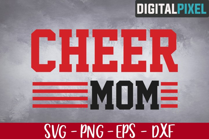 Cheer Mom Svg, Cheerleader Svg, Cheer Cut File, Cheer Mom
