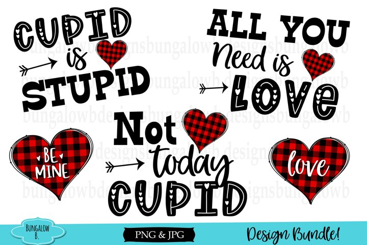 Buffalo Plaid Valentine Design Bundle