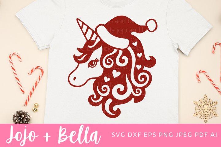 Christmas Unicorn Svg | Christmas Svg