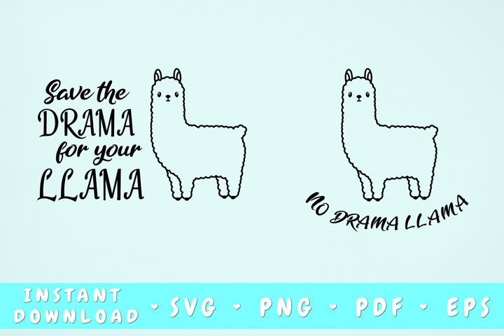 Save The Drama For Your Llama Svg, No Drama Llama Svg