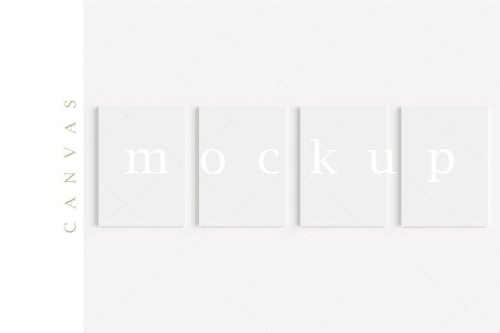 A4 Canvas Mockup Display Simple Modern Painting Mockup/M334