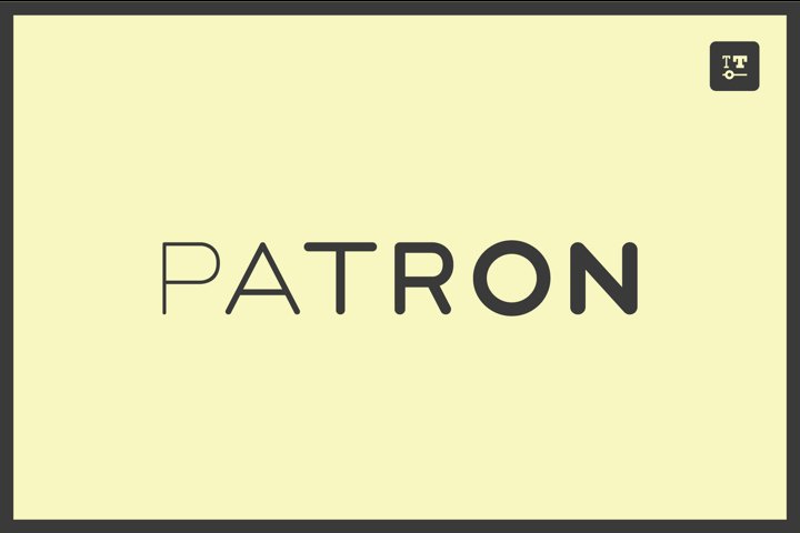 PATRON - variable font with optional stencils & monoline