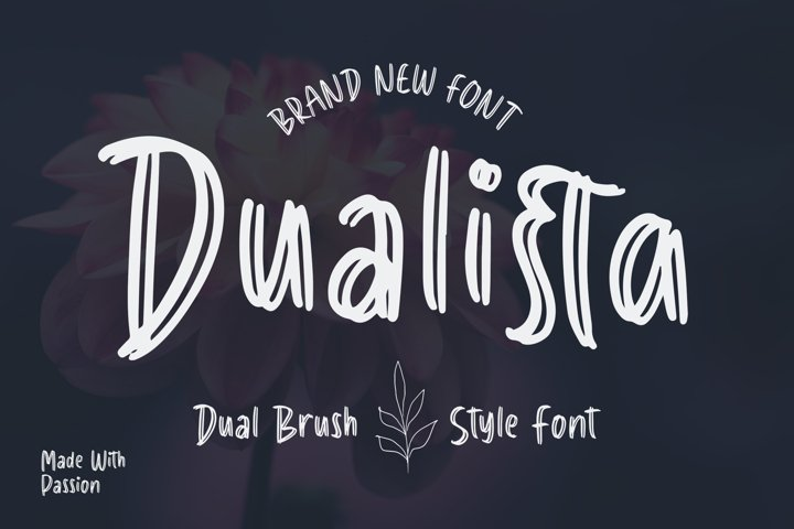Dualista - Dual Brush Style Font