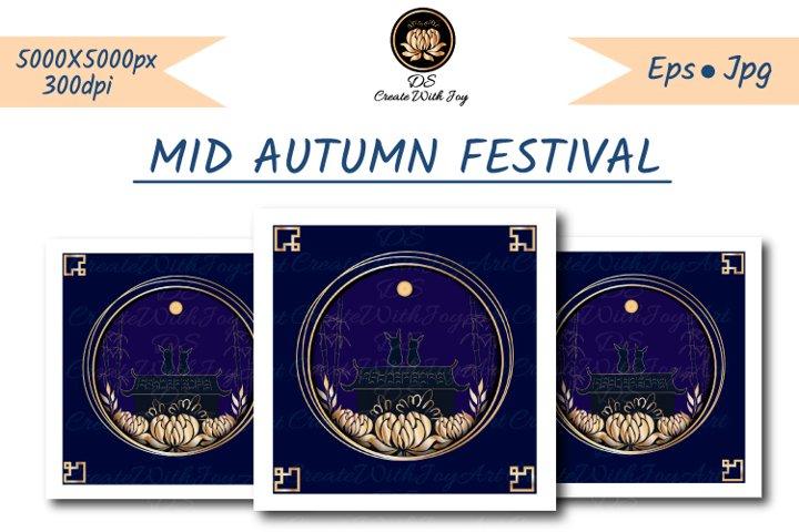 Oriental mid autumn festival