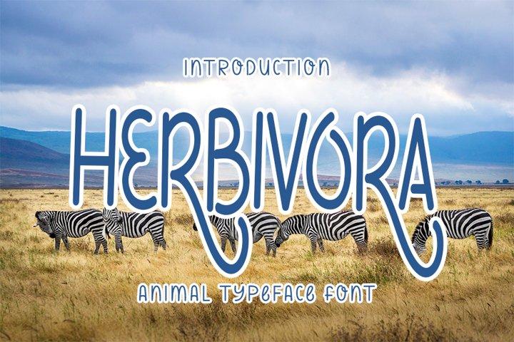 Herbivora - Elegant Animal Font