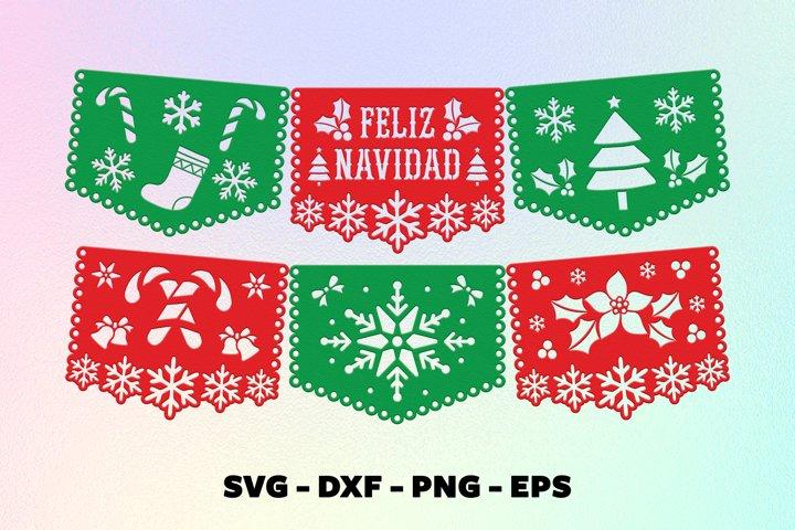 Feliz navidad banner svg Christmas banner svg
