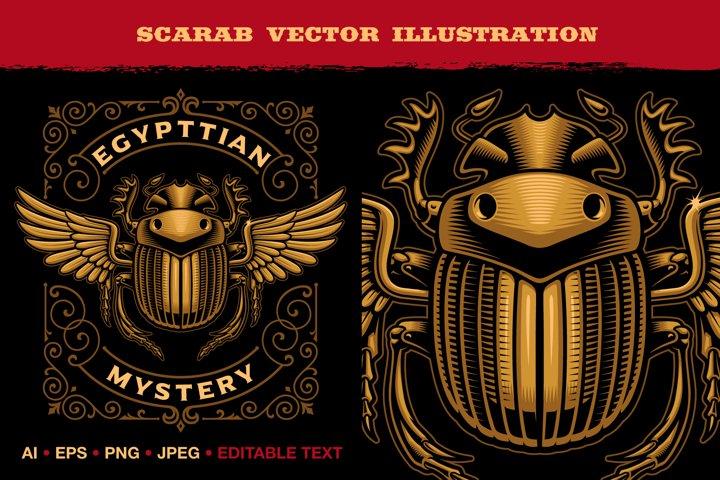An Egyptian Scarab Vector