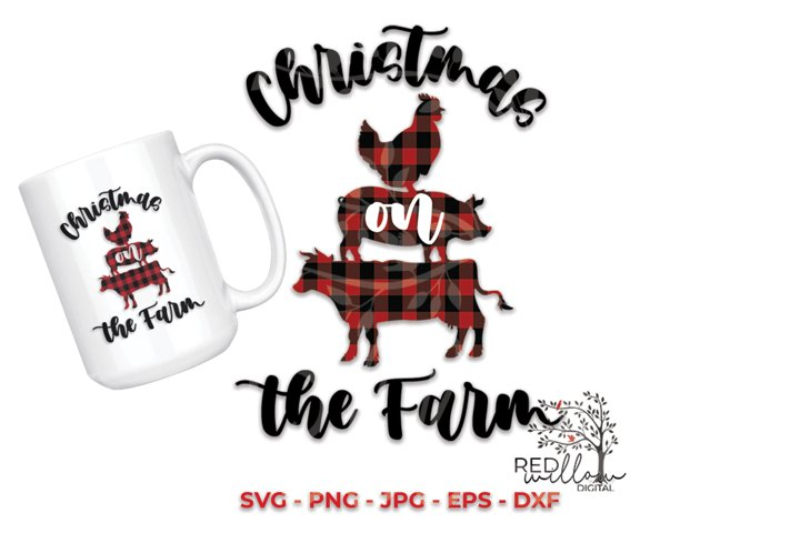 Christmas SVG, Christmas On The Farm, Farmhouse Sublimation