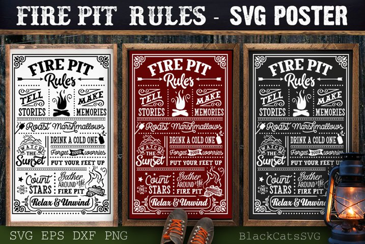 Fire pit rules SVG