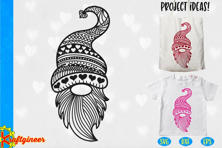 Intricate Gnome SVG | Valentines Day SVG