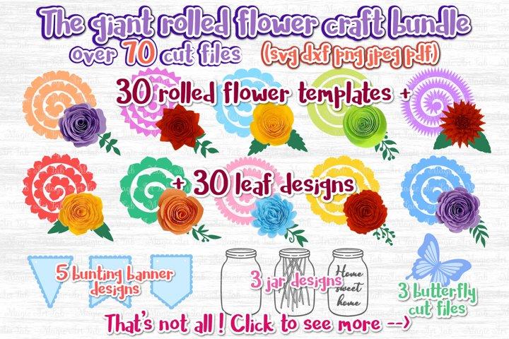 Paper Flower svg, 3d flower svg, Rolled Flower svg file,