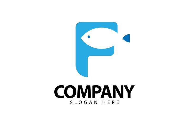 Initial F Fish Logo