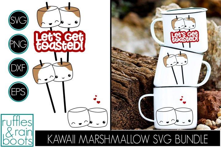 Kawaii Marshmallow SVG Set - Toasted Marshmallow Clipart