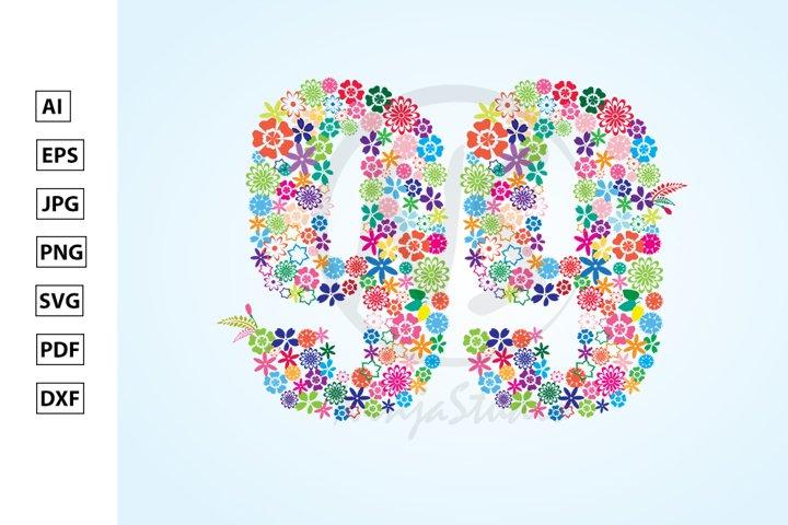 Floral Number Ninety Nine