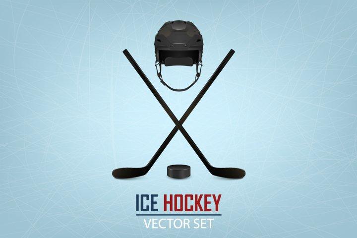 Ice hockey illustrations. Big set.