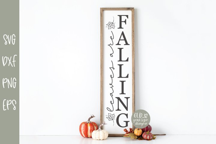 Leaves Are Falling - Vertical Fall SVG