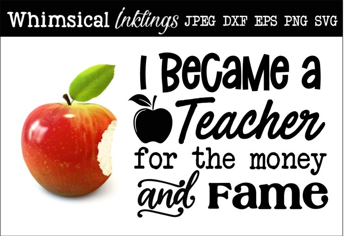 I Became A Teacher SVG