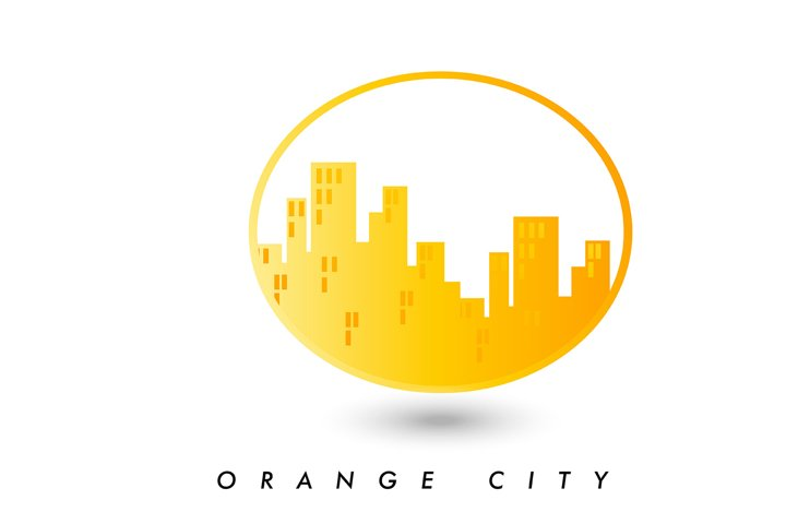 Vector logo of a company. city in a circle