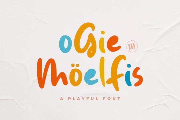 Ogie Moelfis - A Playful Font