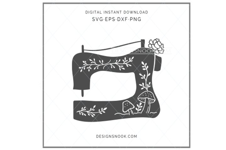 Floral sewing machine SVG