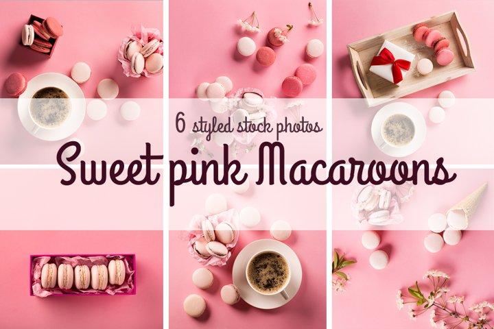 Sweet pink macaroons