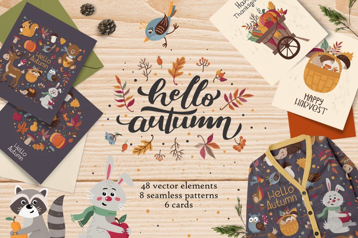 Hello, Autumn! Forest cute animals