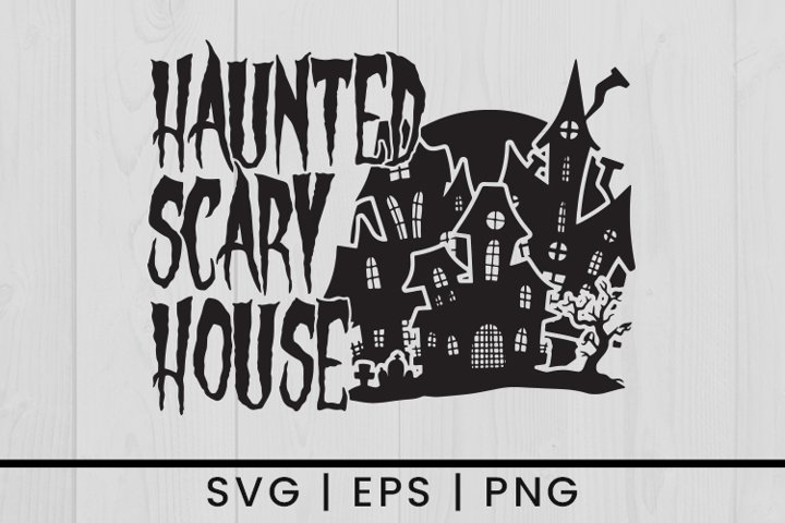 Halloween Haunted House Quotes SVG Vector