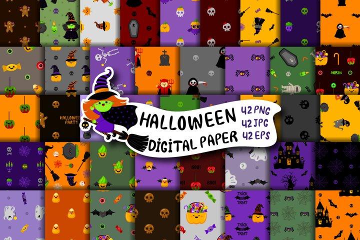 Halloween digital paper,cute halloween patterns,bundle paper