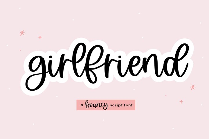 Girlfriend - A Bouncy Handwritten Script Font