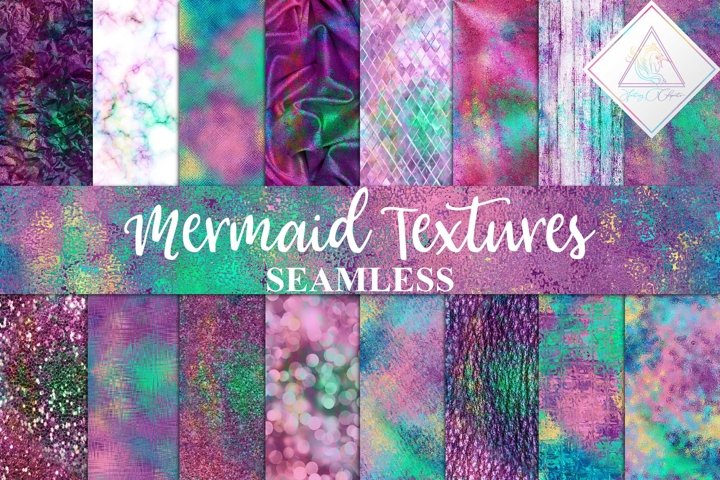 Seamless Mermaid Textures Digital Paper