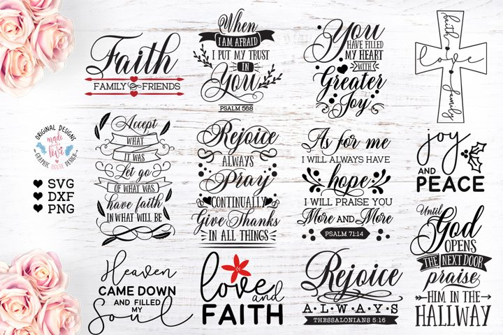 12 Faith Christmas Designs