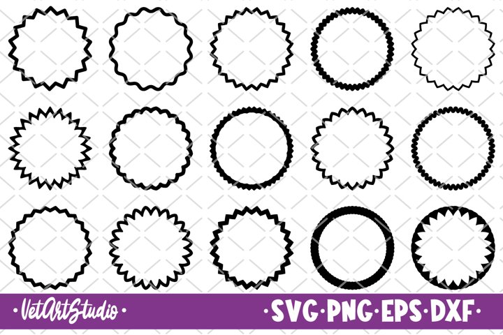 15 Circle frames svg, Frames bundle