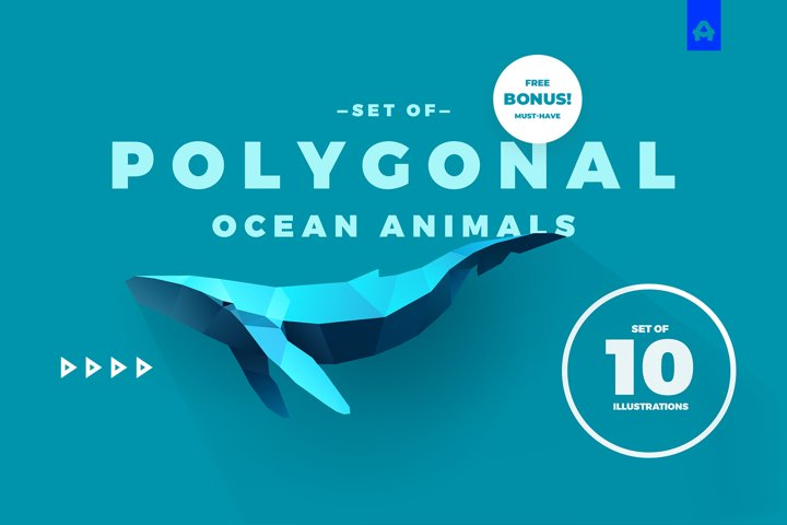 Ocean Polygonal Animals