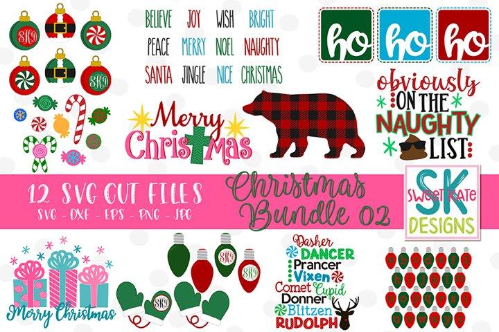Christmas SVG Bundle - 12 - SVG DXF EPS PNG JPG