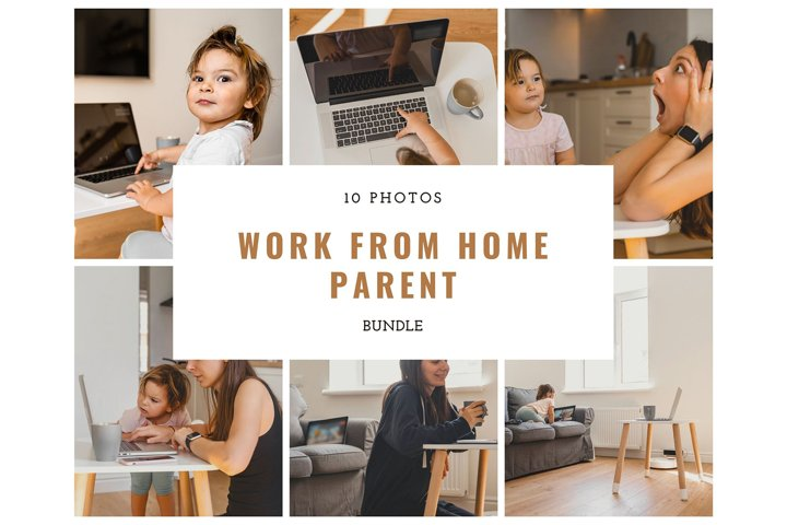 Work From Home Mother, 10 photos bundle