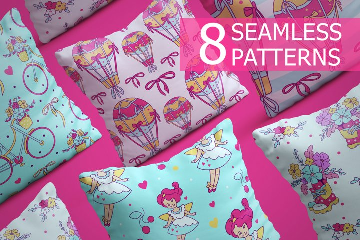 Seamless patterns Spring mood
