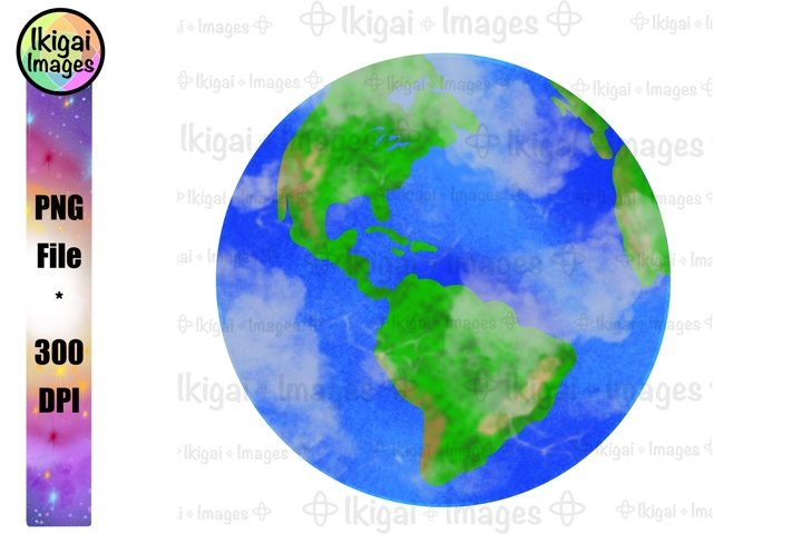 Planet Earth PNG, World Map Sublimation, Globe Printable Art