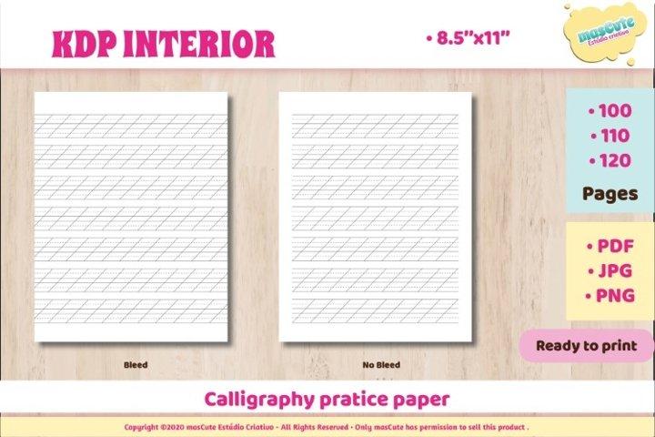 KDP interior Calligraphy practice paper example